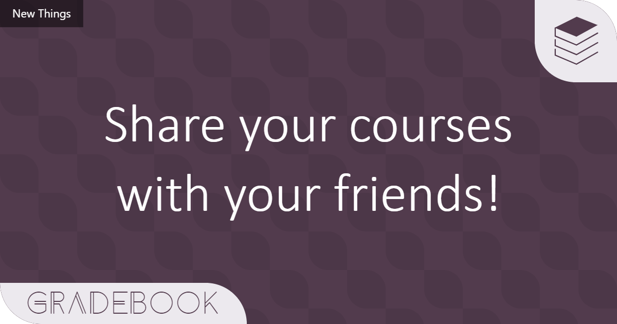 Share your courses with friends