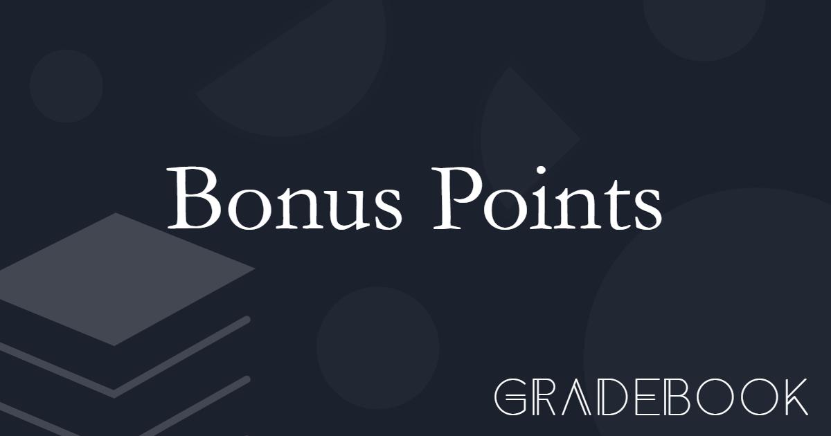 About Bonus Points